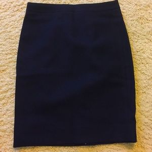 J. Crew Petite No.2 Pencil Skirt Double-Serge Wool